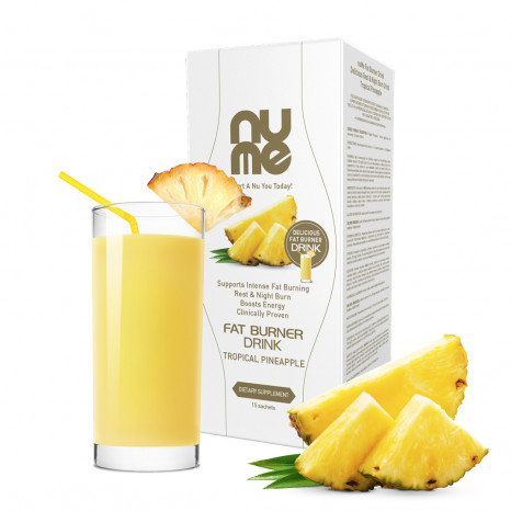 nuMe Fat Burner Drink Tropical Pineapple