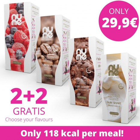 nuMe Slim Shake with Collagen (6 portions) 2+2 GRATIS (Choose Your Mix)