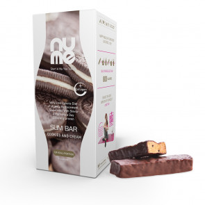 nuMe Slim Bar with Collagen Cookies and Cream (6 portions)