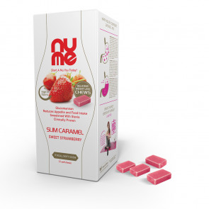 nuMe Slim Boost Soft Chew Sweet Strawberry with Glucomannan