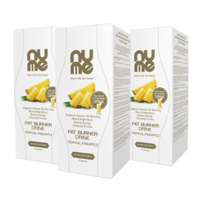 nuMe Fat Burner Drink Tropical Pineapple TRIO PACK