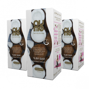 nuMe Slim Bar Coconut Crunch MEGA TRIO Pack (3 x 6 porcij)