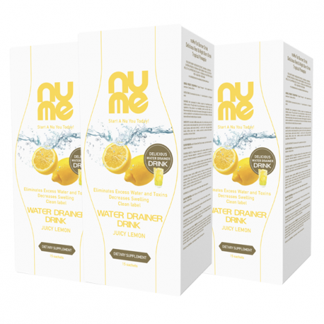nuMe Water Drainer Drink Juicy Lemon TRIO PACK